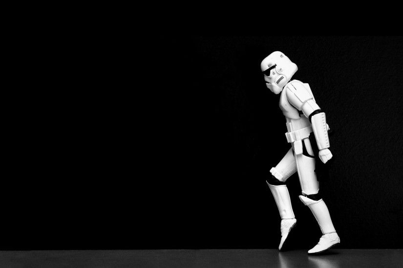 Funny Star Wars Black HD Wallpaper Stormtrooper ''Moonwalker''