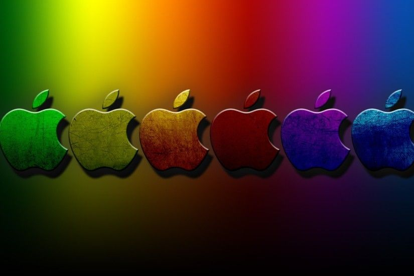 3D Apple Colorful Wallpaper.