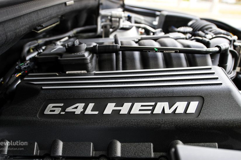 The 6.4 liters of Hemi ...