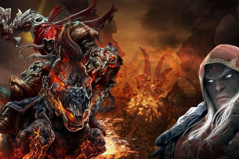 Download now full hd wallpaper darksiders horsemen apocalypse war art .