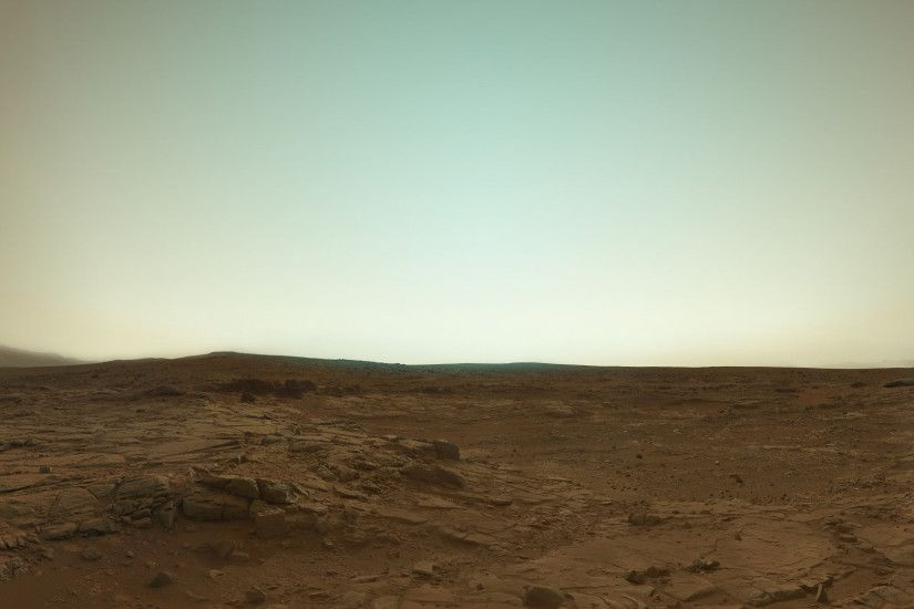 Mars in true color from Curiosity.