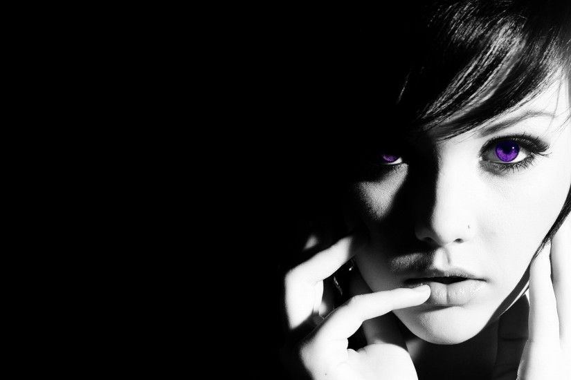 The girl with black hair and violet eyes wallpapers and images
