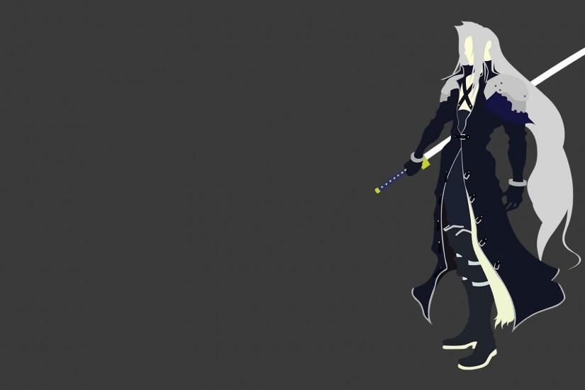 ... Sephiroth (Final Fantasy Dissidia) Minimalist by xVordred