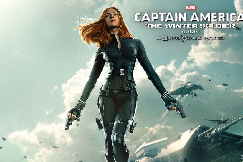 Movie - Captain America: The Winter Soldier Scarlett Johansson Black Widow  Wallpaper