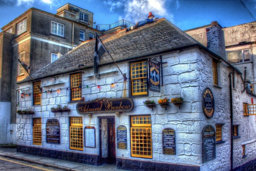 Full HD Wallpaper admiral benbow front view pub penzance england