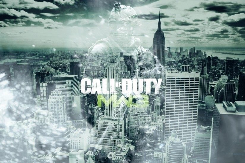 3840x2160 Wallpaper call of duty modern warfare 3, city, soldier, sky,  clouds