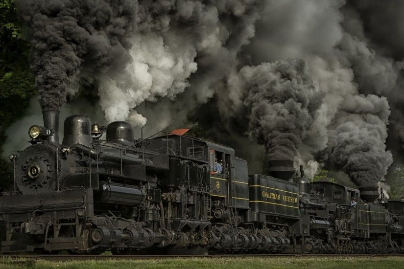 Steam Locomotive, Passenger Train Wagons Desktop Wallpaper Hd ..