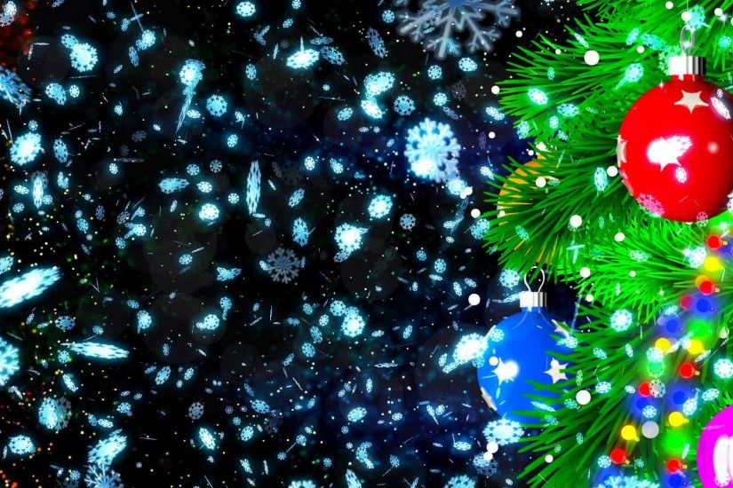 HD Loopable Abstract Background with nice christmas balls for club visuals,  LED installations, broadcasting