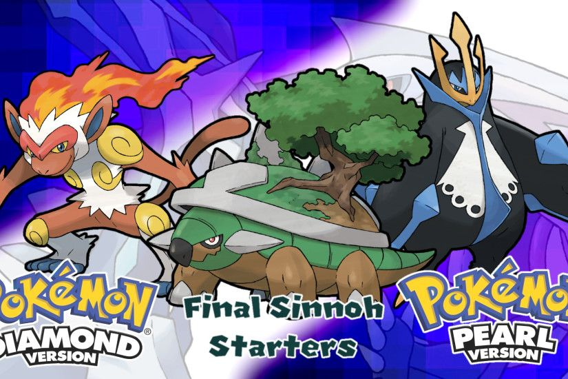 ... Pokemon DPP- Final Sinnoh Starters Wallpaper by MattPlaysVG