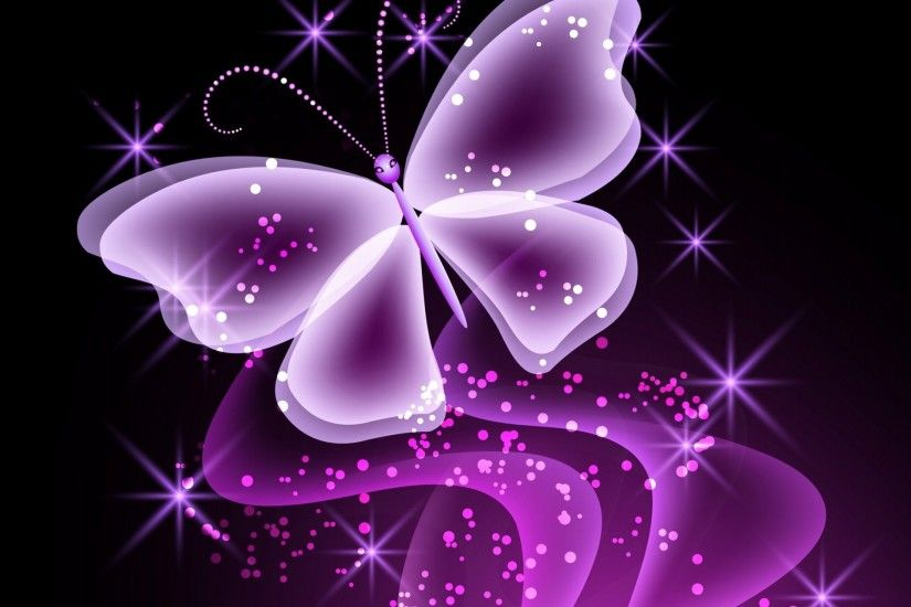 neon butterfly abstract purple sparkle glow butterfly neon