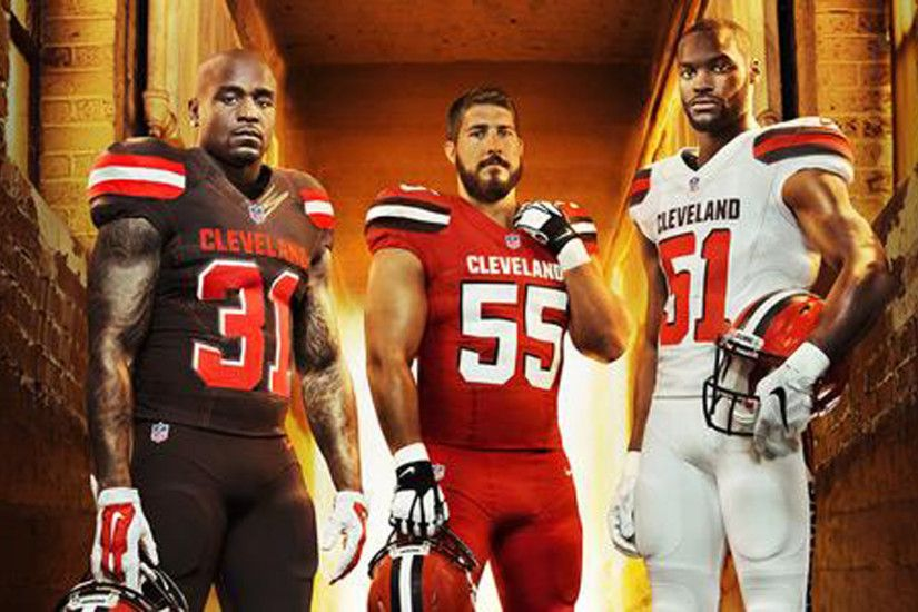 commercial photography; cleveland browns unveil new jerseys for 2015 nfl  sporting news