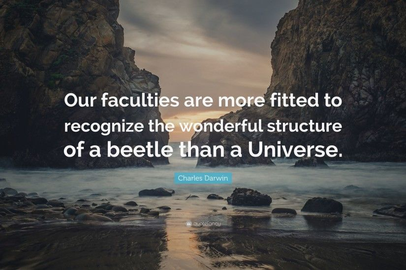 "Charles Darwin Quote: ""Our faculties are more fitted to recognize the  wonderful structure of"
