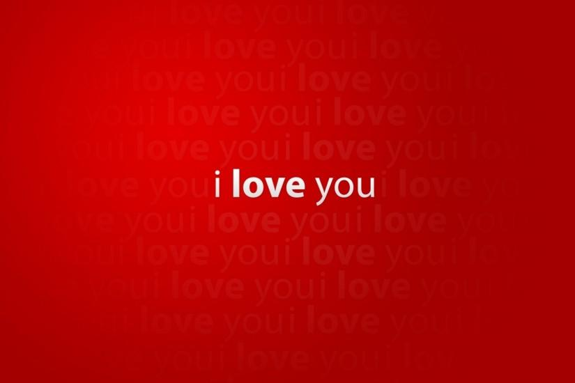 I Love You Red Wallpapers HD Wallpaper