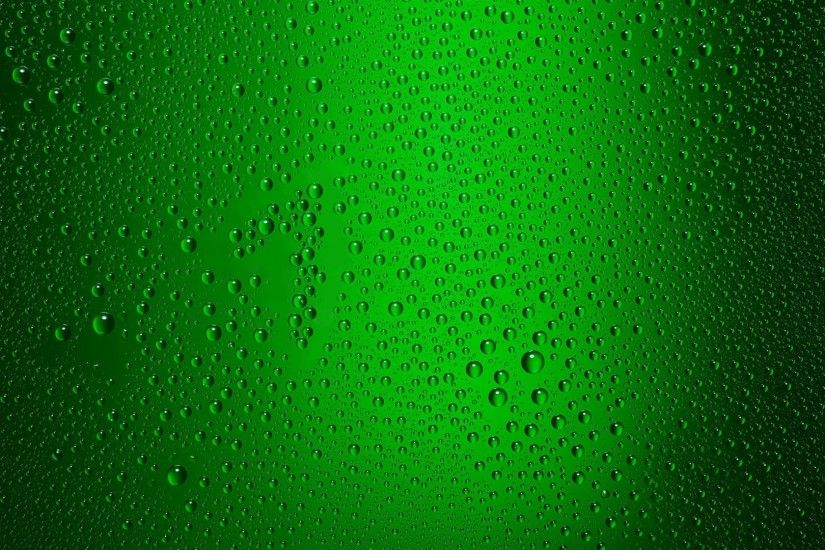 Green color glass water dots