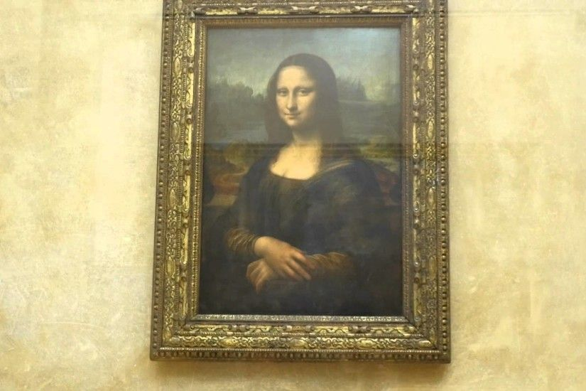 Mona Lisa following eyes looking at you original in Musée du Louvre museum  - YouTube