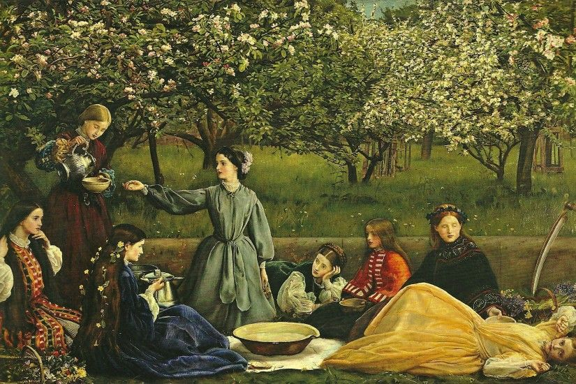 1859. 'Spring (Apple Blossoms)' by Millais