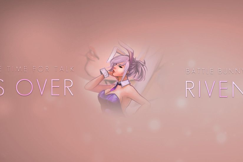 battle bunny riven skin league of legends hd wallpaper lol girl champion  1920x1080