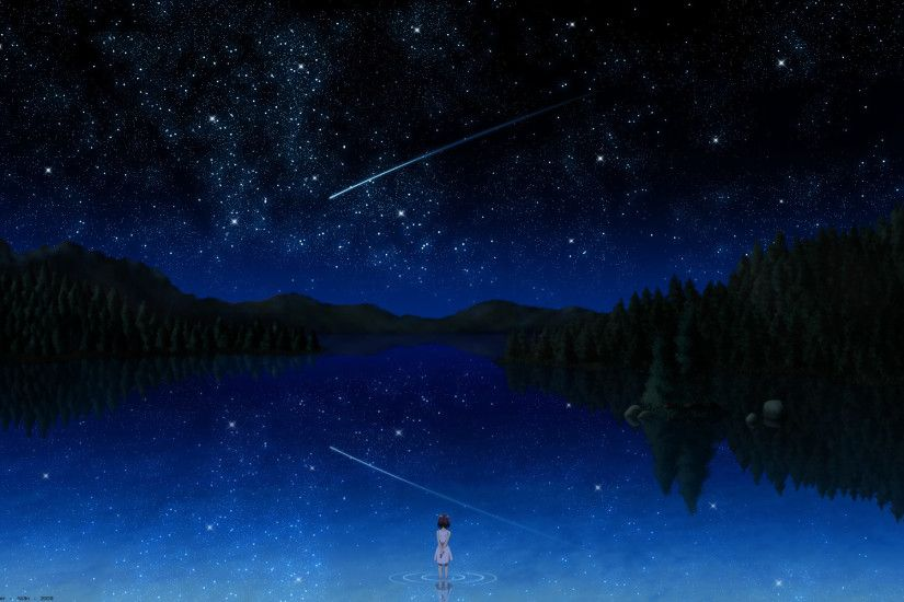Download: Meteor Shower HD Wallpaper