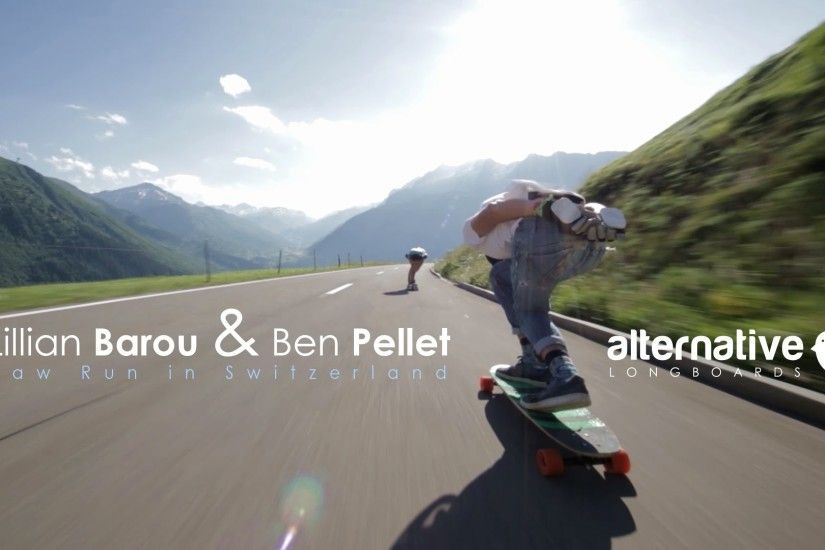 Lillian Barou & Ben Pellet - Raw Run in Switzerland / Alternative Longboards