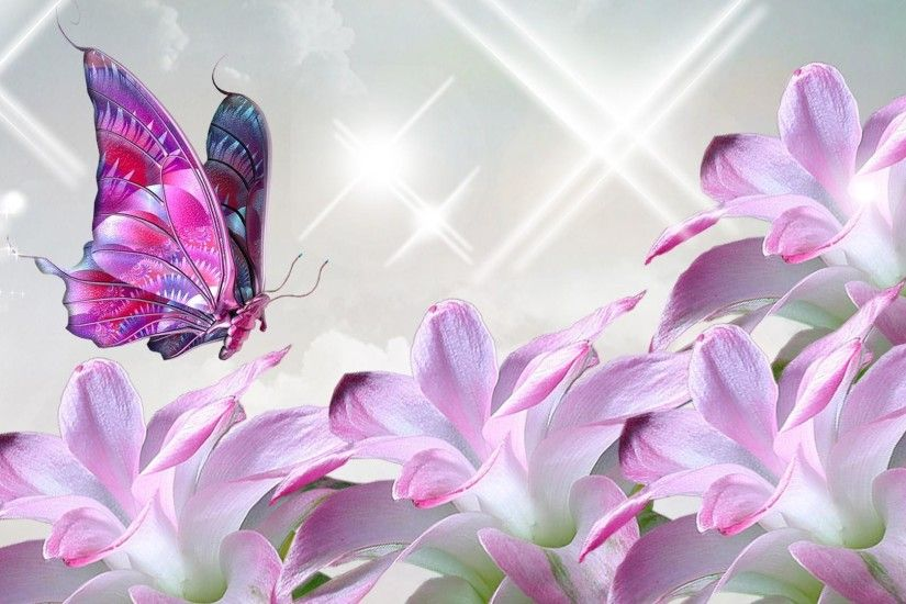 Pink Butterfly Backgrounds | Butterfly Wallpaper | Butterfly .