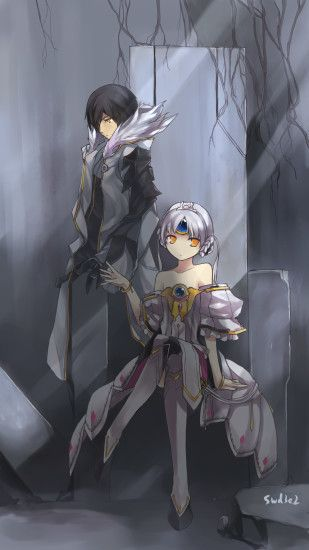 Tags: Anime, swd3e2, Elsword, Blade Master (Raven), Eve (