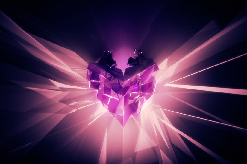 High Resolution Pink Abstract Love Heart Purples