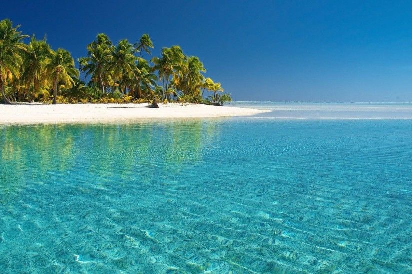 tropical beach desktop wallpaper – 1920×1080 Download Free .