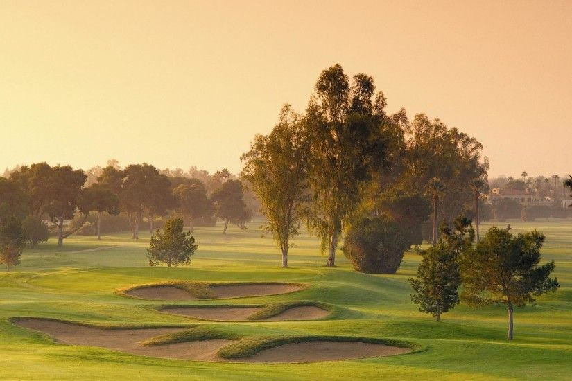 lovely golf course wallpaper 46046