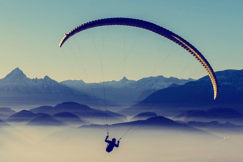 landscape, Mountain, Paragliding Wallpapers HD / Desktop and Mobile  Backgrounds