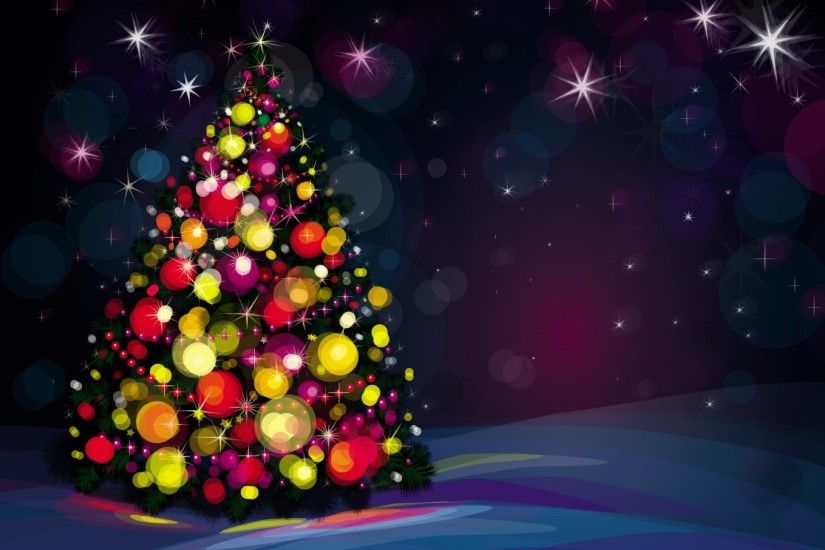 Christmas Tree Colorful (56 Wallpapers)
