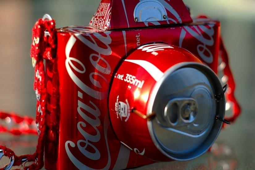 Camera Made From Coca Cola Wallpaper