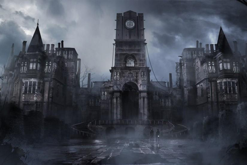 Gothic Castle Wallpaper Background