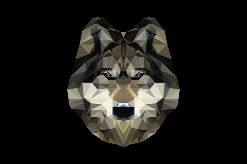 Low Poly Wolf 2.0 [1920X1080] ...
