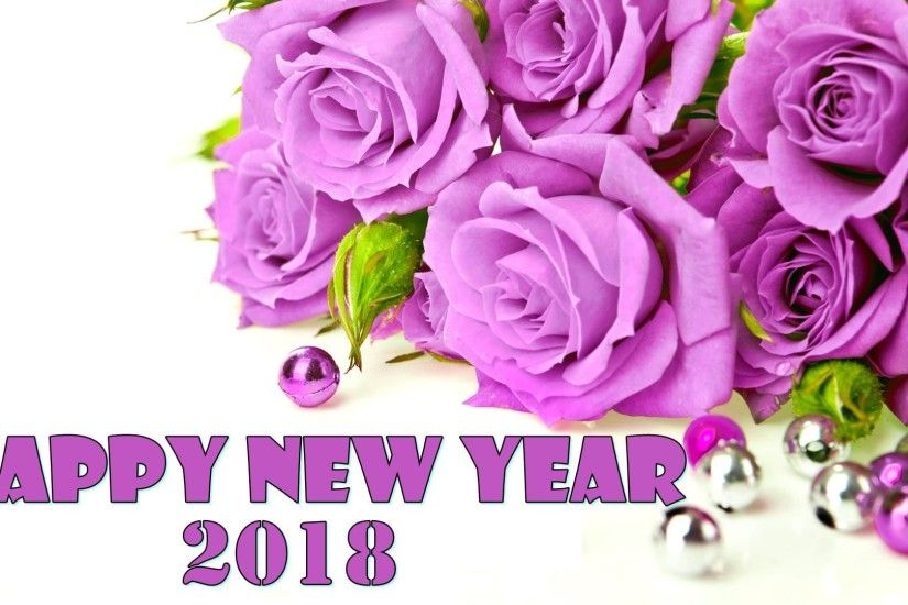 happy new year 2018 roses flowers background hd wallpapers