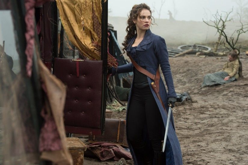 Pride and Prejudice and Zombies wallpaper HD Elizabeth Bennet Lily James