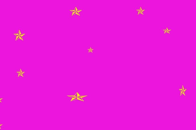 Bright Pink Background, Gold Stars - Free Image