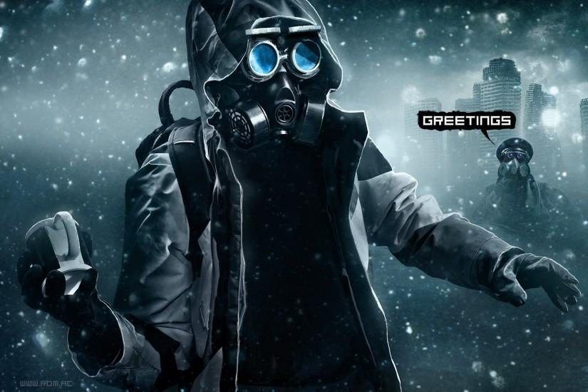 amazing gas mask wallpaper 1920x1200 for windows 7