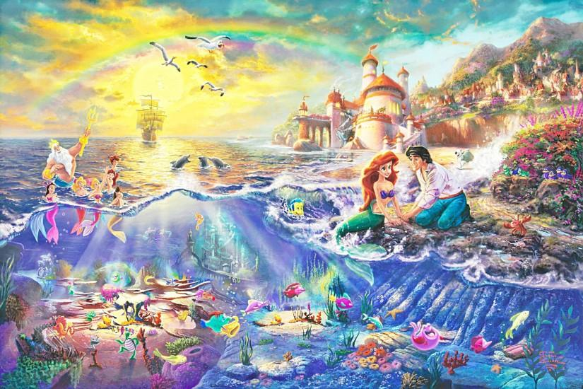 The Little Mermaid Widescreen Background for Android