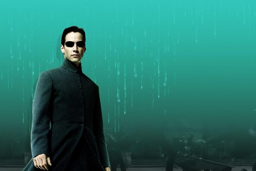 Preview wallpaper the matrix, keanu reeves, нео 3840x2160