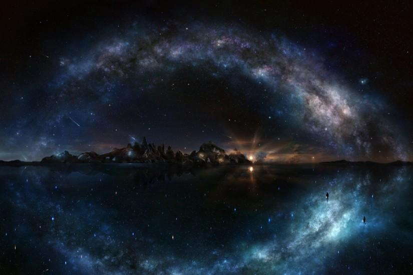 amazing night sky wallpaper 1920x1080 for desktop