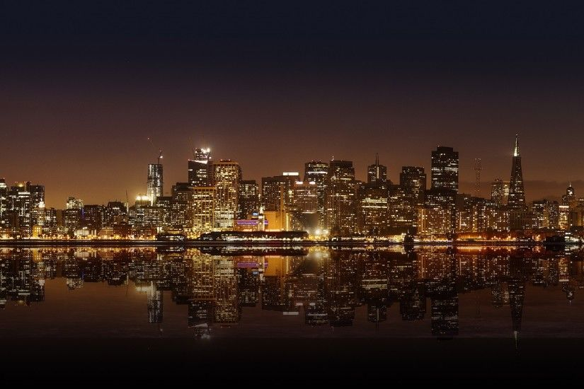 Preview wallpaper san francisco, night city, panorama 1920x1080
