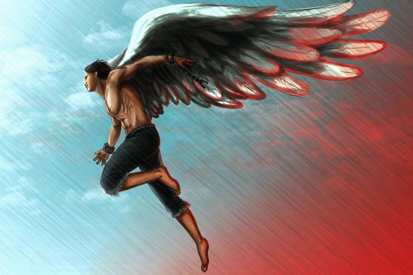 Angels Men Painting Art Wings Fantasy Angel Wallpaper At Fantasy Wallpapers