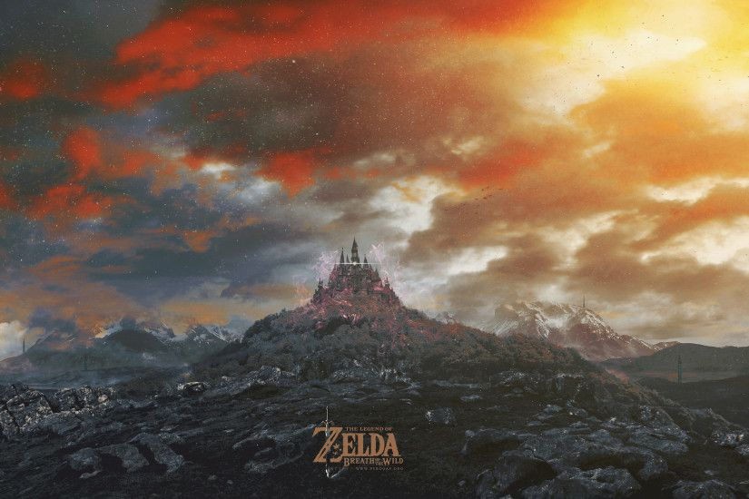 Video Game - The Legend of Zelda: Breath of the Wild Castle Landscape  Wallpaper