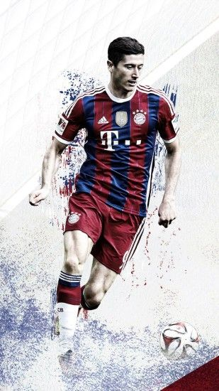 Robert Lewandowski Bayern Munich HD iPhone Wallpaper - Wallpapers .