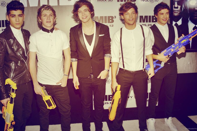 One Direction with Nerf guns at a MIB 3 Premiere for 1920x1080