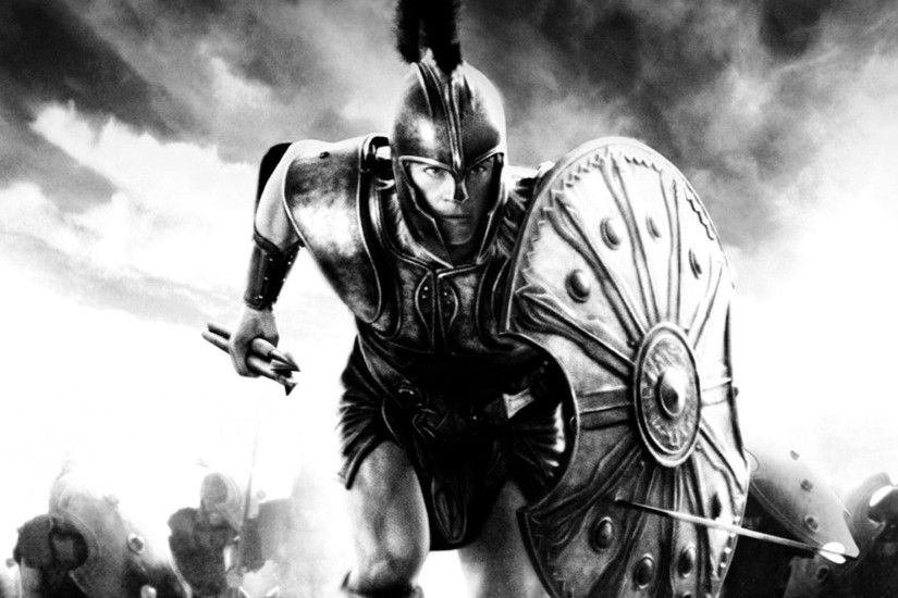 sparta brad pitt warriors troy 1680x1050 wallpaper Art HD Wallpaper