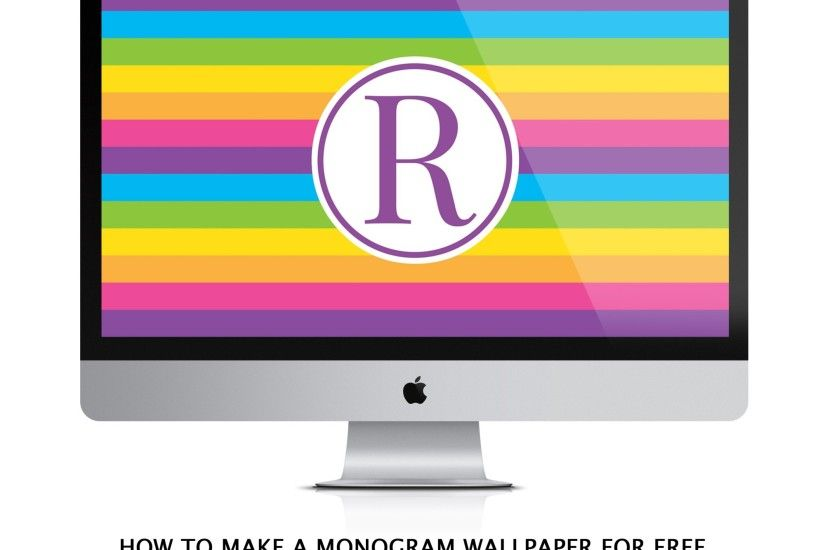 How to make a monogram computer wallpaper for FREE using Canva (Video  Tutorial)