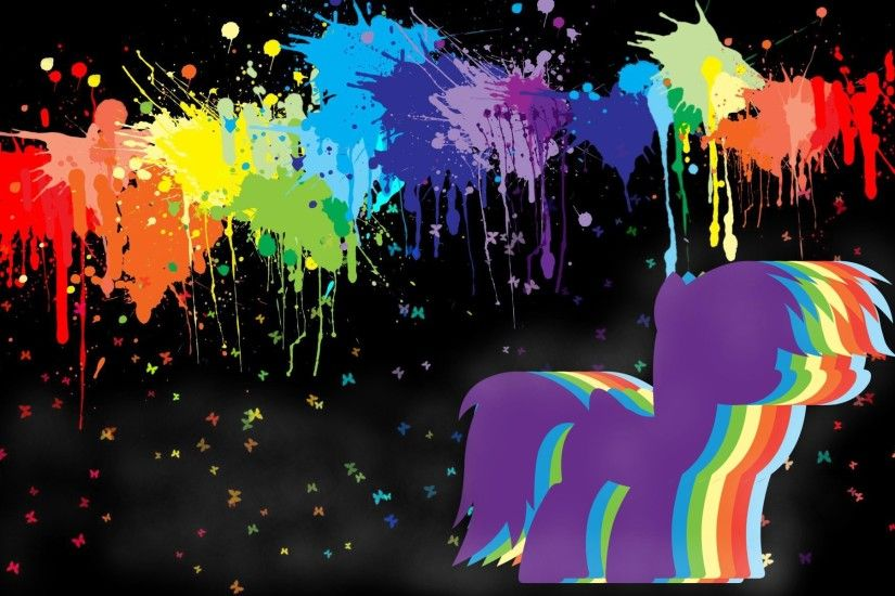 52453 1920x1200 butterflys paint splatter rainbow dash rainbowdash wallpaper