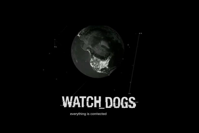 Free Download Watch Dogs Font Black Background HD Wallpaper Image