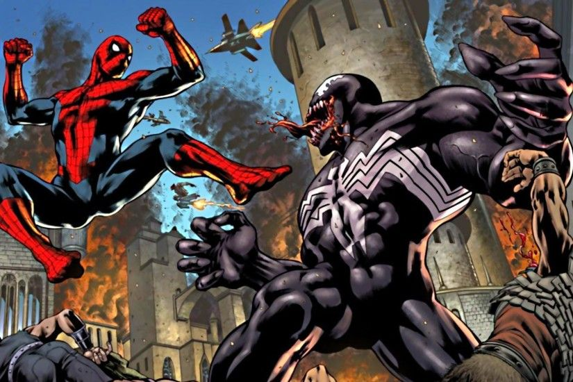 Spiderman Vs Venom Wallpaper | Cartoon Inside